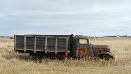 abandoned car: Old International Truck Stock Photo