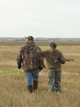 sons and grandsons: Grandfather and Grandson Hunting