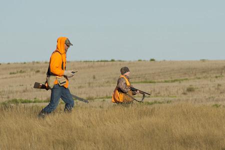 Father and son hunting Archivio Fotografico