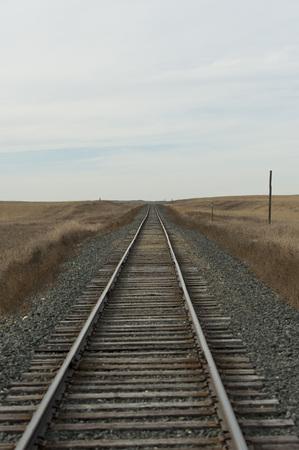 ferrocarril: Vías férreas  Foto de archivo