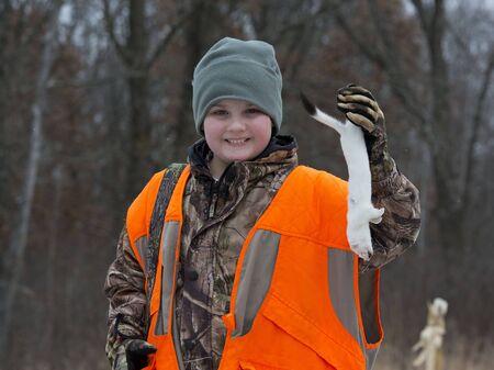 gronostaj: Hunter z łasiczką