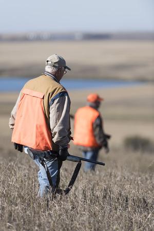 Fazantjagers in South Dakota Stockfoto