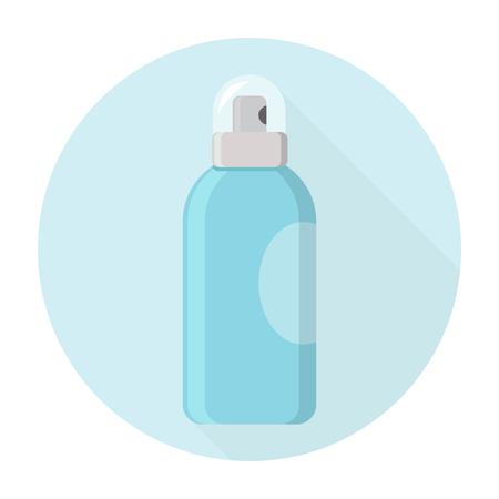 Deodorant spray aerosol can vector flat design