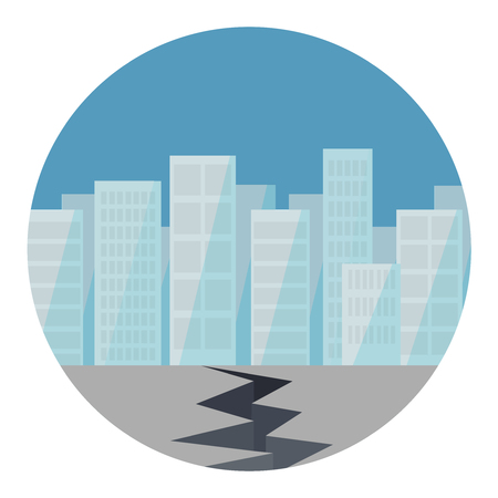 Earthquake flat design icon