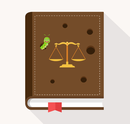 loophole: Loophole in the law book statute book Illustration