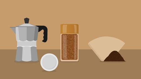 siphon: Eco-friendly coffee brewing methods illustration.