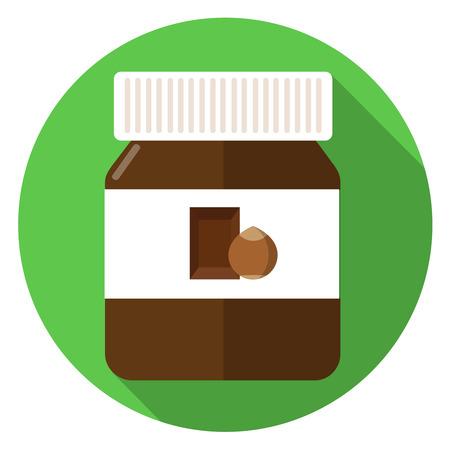 Chocolate bread spreads flat design