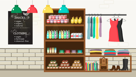 Alternative vegan shop illustration