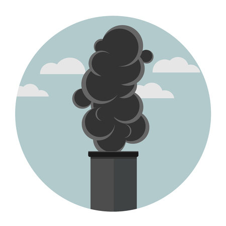 CO2 carbon dioxide cloud carbonic acid gas icon isolated on white background 向量圖像