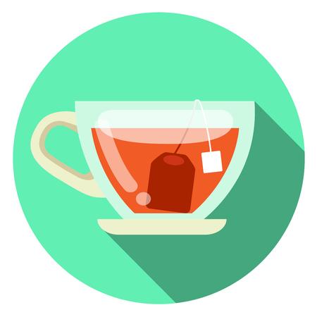 Cup of tea vector flat design Illustration