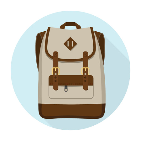Backpack icon vector design isolated on white background Illustration