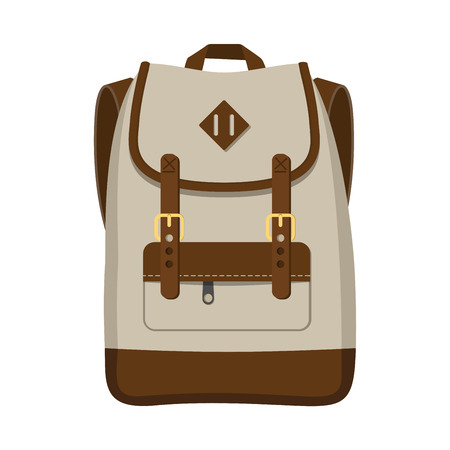 Backpack vector design isolated on white background