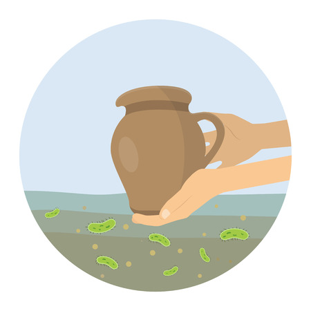 Dirty drinking water icon design