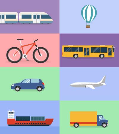 Means of transport flat design