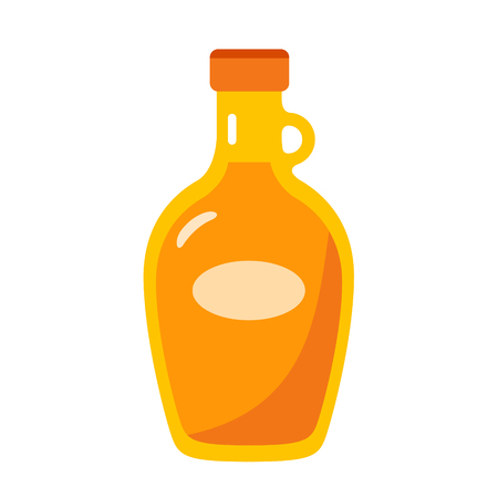maple syrup flat design icon Vector illustration.