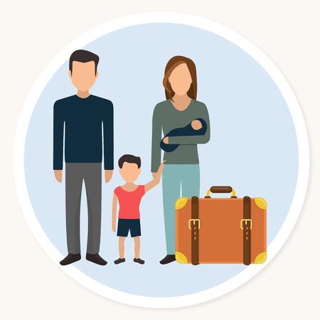 famille de grands-parents avec l & # 39 ; enfant et la cuisine plat icônes de conception . vector illustration Vecteurs