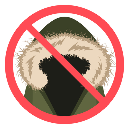 No sign in vector flat design icon Ilustrace