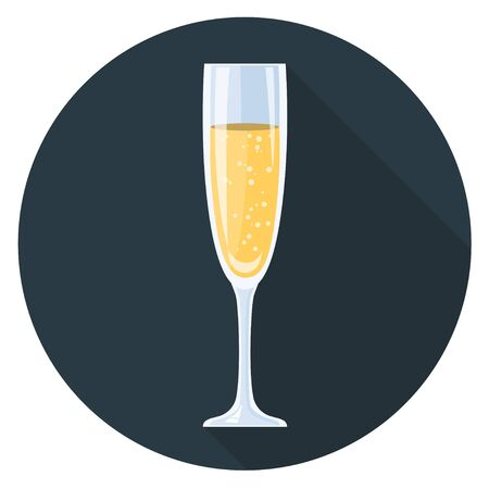 champagne glass flat design icon