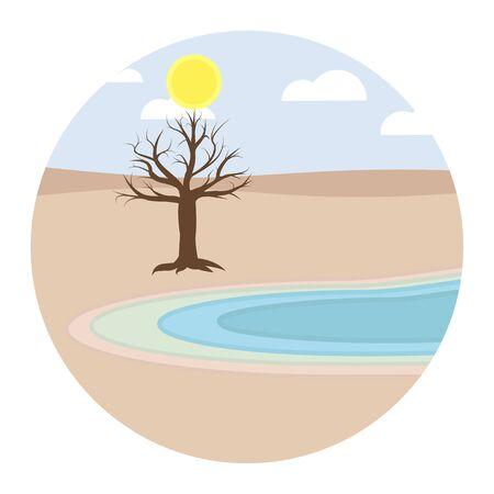 drought water deficiency shortage flat design