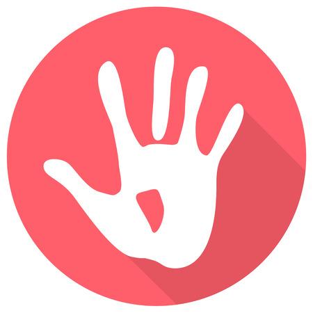 hand mark icon flat design