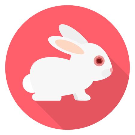 Animal testing toxic substance in the eye of a bunny flat design Vector illustration. 版權商用圖片 - 99387069