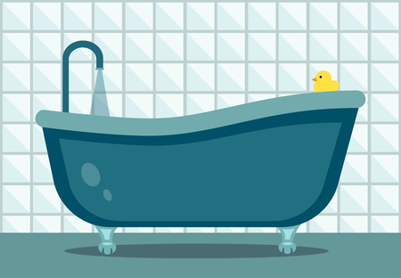 Bathtub flat design.