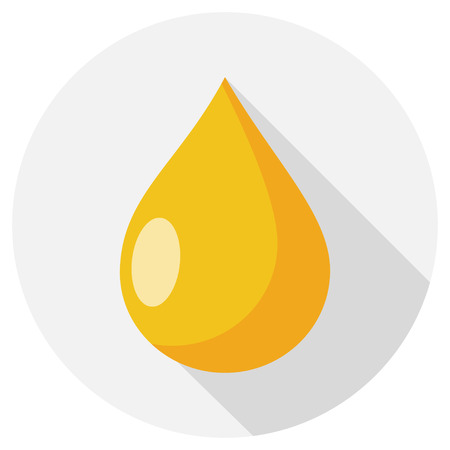 oil drop flat design icon