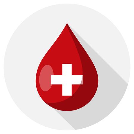 blood drop flat design icon