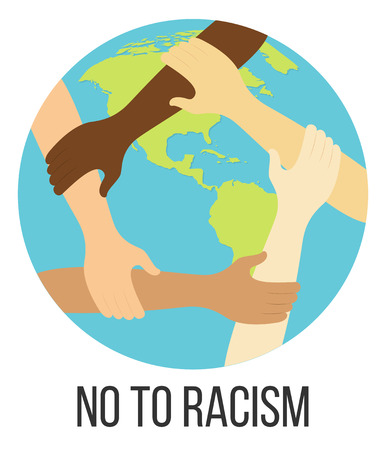 no to racism flat design icon