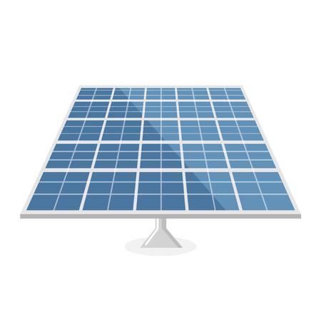 Solar panel flat design, isolated on white background.