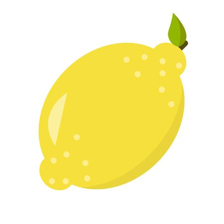 Lemon flat design, isolated on white background. 向量圖像