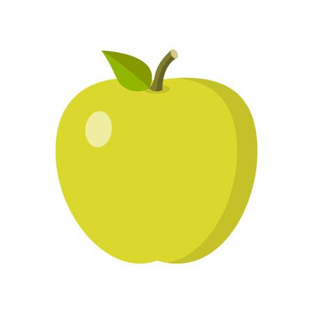 Flat apple design isolated on white background. 向量圖像