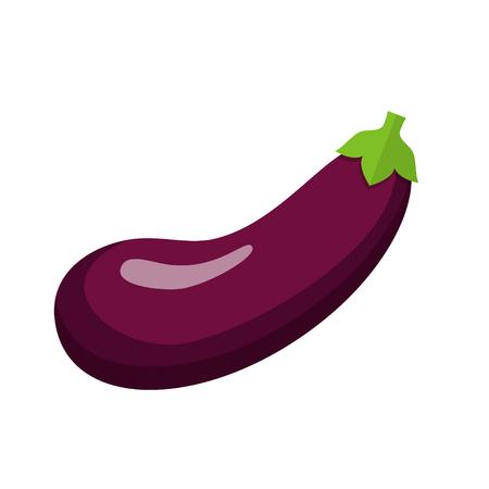 Eggplant eggplant flat design icon isolated on white background