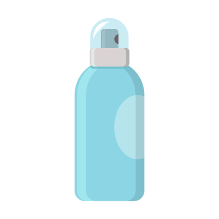 Deodorant spray aerosol can vector flat design isolated on white background