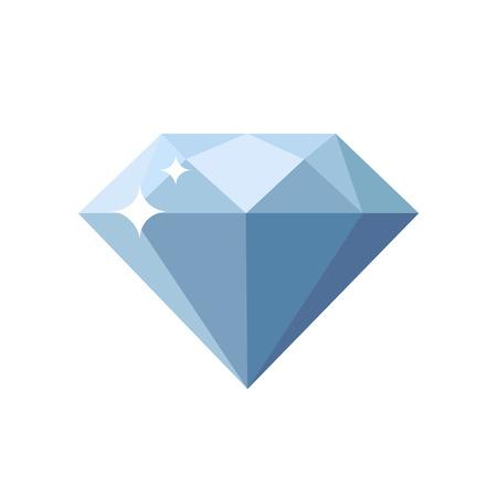 Diamond flat design icon 向量圖像