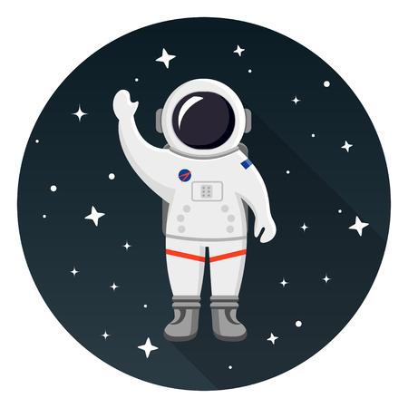 Astronaut flat design