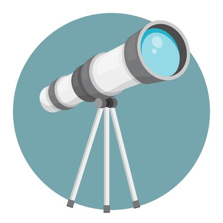 Telescope isolated on white background flat design 向量圖像