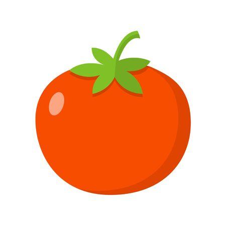 Tomato flat design icon isolated on white background 向量圖像