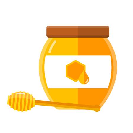 glass of honey flat design