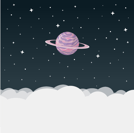 planet flat design icon