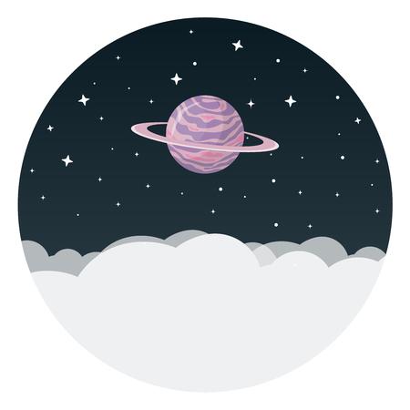 惑星フラットデザインアイコン