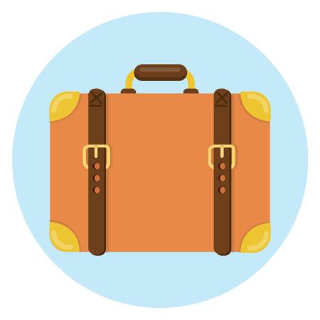 suitcase flat design icon Illustration