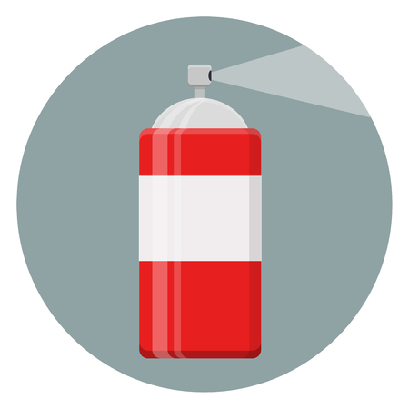 Insect Spray Can Flat Design Icon