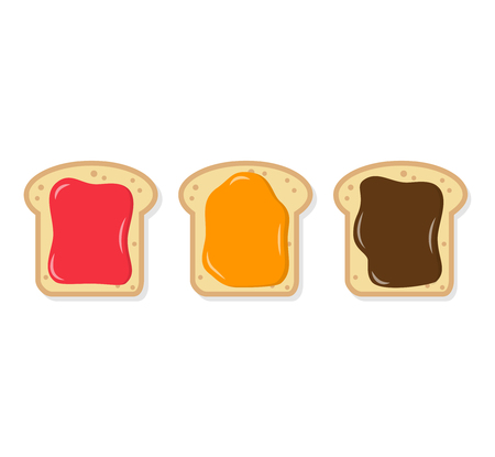 toast with spread flat design icons