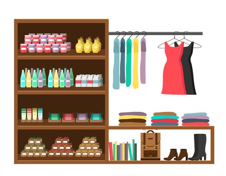 shop market  illustration flat design isolated on white background