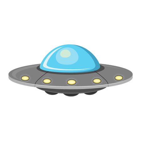 Ufo flat design icon isolated on white background