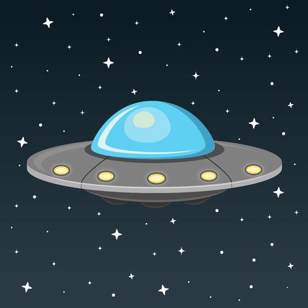 ufo flat design icon
