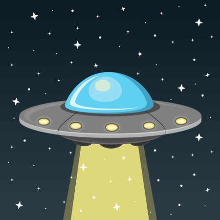 ufo flat design icon Stock fotó - 104711066