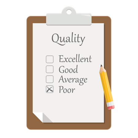 quality check clipboard flat design icon 版權商用圖片 - 104711094