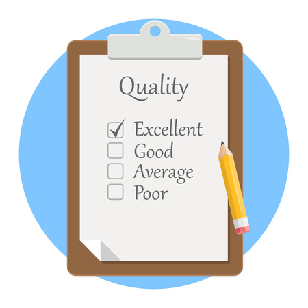 quality check clipboard flat design icon